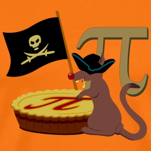 Pi rat / Pi Piratenratte (B, DDP) T-Shirts - Men's Premium T-Shirt