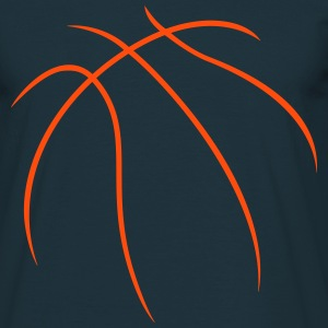 Basketball Outline T-Shirts - Männer T-Shirt