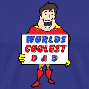 Worlds Coolest Dad - Men's Premium T-Shirt