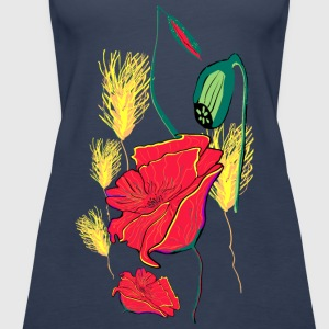 Mohn Shirtmotiv2. Tops - Frauen Premium Tank Top