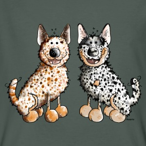 Two Australian Cattle Dogs  T-Shirts - Men's Organic T-shirt
