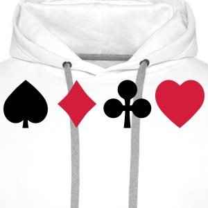 playing cards speelkaarten Sweaters - Mannen Premium hoodie