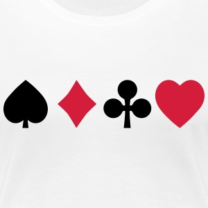 playing cards cartes à jouer Tee shirts - T-shirt Premium Femme