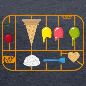 Ice Cream Cone kit T-Shirts - Women's T-shirt with rolled up sleeves