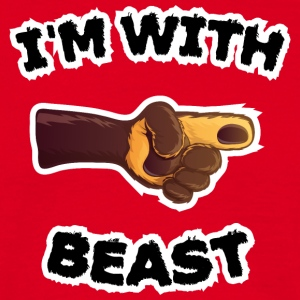 i'm with beast (c) T-Shirts - Men's T-Shirt