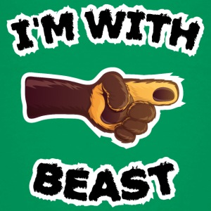 i'm with beast (c) Shirts - Kids' Premium T-Shirt