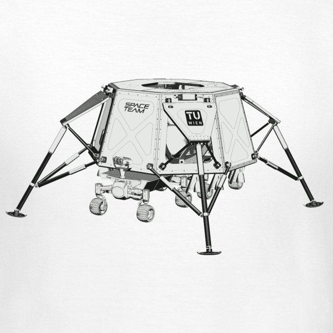 Lunar Landing Module 1 Basic T Weiss (Frauen T)