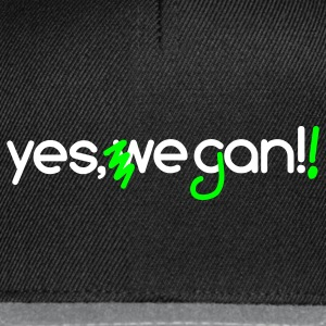 Yes, we can vegan! | Veganer | Veggie | Vegetarier - Snapback Cap