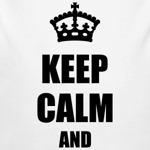 Keep Calm and Gensere - Økologisk langermet baby-body