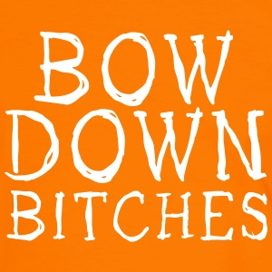 bow down bitches Tee shirts - T-shirt contraste Homme