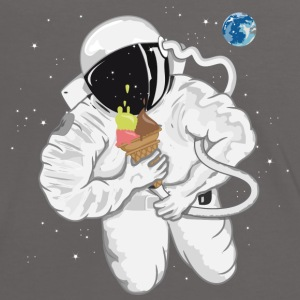Astronaut with ice cream cone  T-Shirts - Women's Ringer T-Shirt