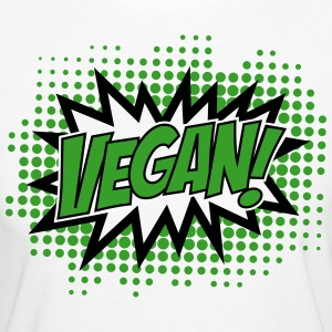 Vegan, Comic Book Style, Green, Explosion, 2c T-shirts - Vrouwen Bio-T-shirt