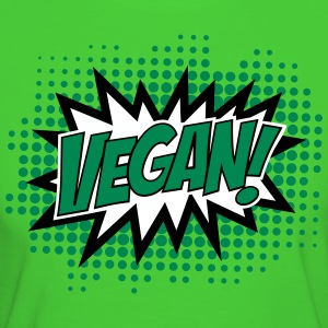 Vegan, Comic Book Style, Green, Explosion, 3c T-shirts - Vrouwen Bio-T-shirt