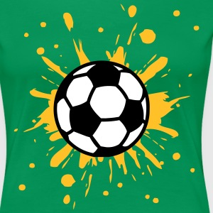 Football, Splash, Soccer, Splatter,  T-shirts - Vrouwen Premium T-shirt