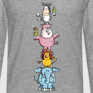 Funny Animal Circus - Zoo Long sleeve shirts - Men's Premium Longsleeve Shirt
