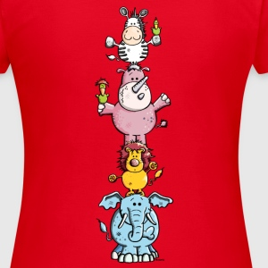Kunterbunter Tier Zirkus - Zoo T-Shirts - Frauen T-Shirt