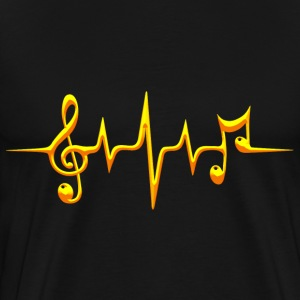 Music, pulse, notes, frequency, clef, bass, sheet T-Shirts - Men's Premium T-Shirt