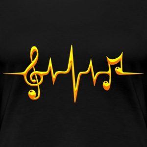 Music, pulse, notes, frequency, clef, bass, sheet Camisetas - Camiseta premium mujer