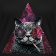 Motif ~ Tee shirt Femme Chat de l'espace