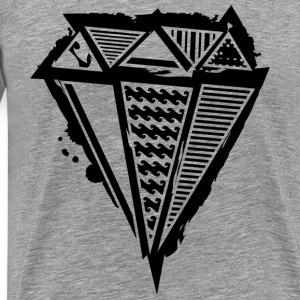 A diamond graffiti with different patterns  T-Shirts - Men's Premium T-Shirt