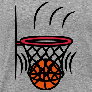 Basketball kurv vinde point T-shirts - Herre premium T-shirt