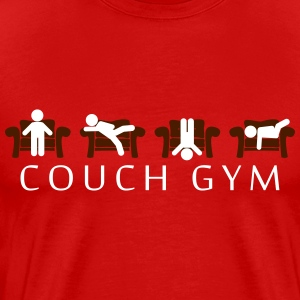 Couch gymnastiek T-shirts - Mannen Premium T-shirt