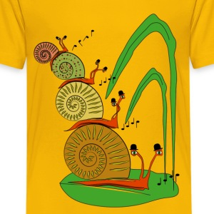snails in the garden          Shirts - Teenager Premium T-shirt