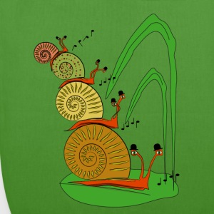 snails in the garden          Bags & Backpacks - EarthPositive Tote Bag
