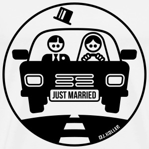 Just Married – Flitterwochen (1C) T-Shirts - Männer Premium T-Shirt