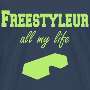 Freestyleur all my life step T-skjorter - Premium T-skjorte for menn