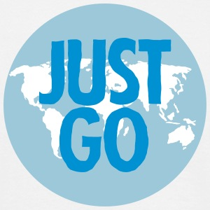 Just Go (World Map) T-Shirts - Männer T-Shirt