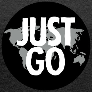 Just Go (Travel) T-Shirts - Women's T-shirt with rolled up sleeves