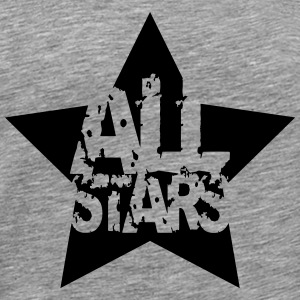 Allstars star stamp imprint T-Shirts - Men's Premium T-Shirt