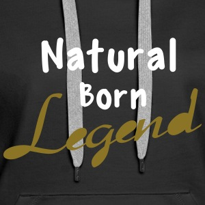 Born Legend Sweat-shirts - Sweat-shirt à capuche Premium pour femmes