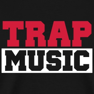 TRAP MUSIC - BASS PARTY T-shirts - Herre premium T-shirt