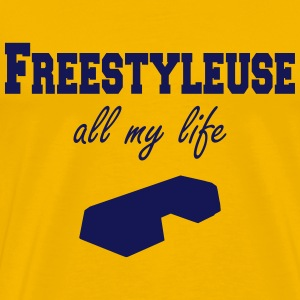 Freestyleuse all my life step T-skjorter - Premium T-skjorte for menn
