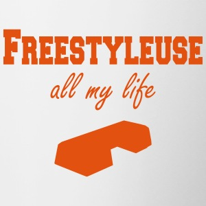 Freestyleuse all my life step Flaschen & Tassen - Tasse zweifarbig