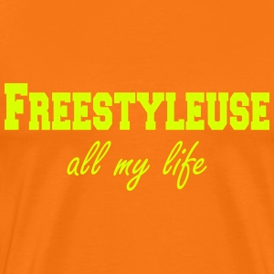 freestyleuseFreestyleuse all my life  T-shirts - Herre premium T-shirt
