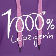 Motiv ~ Frauen Hoodie 1000% Leipzigerin