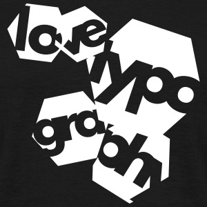 Love Typography Tee shirts - T-shirt Homme