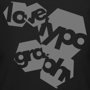 Love Typography Tee shirts - T-shirt bio Homme
