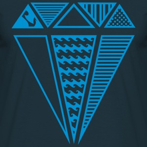 A shape of a diamond with different patterns  T-Shirts - Men's T-Shirt