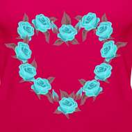 Ontwerp ~ Bue roses heart patjila designer