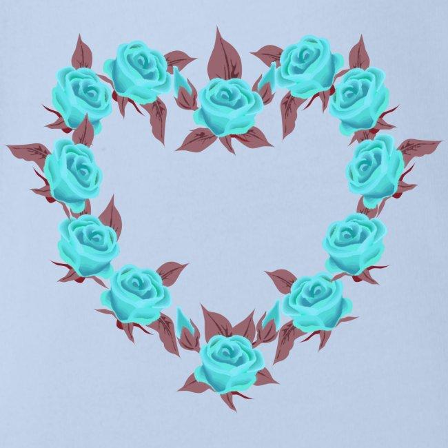 Bue roses heart patjila designer