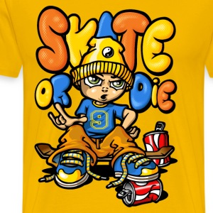 Skateboard and graffitis - T-shirt Premium Homme