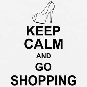 keep_calm_and_go_shopping_g1 Tanktoppar - Premiumtanktopp herr