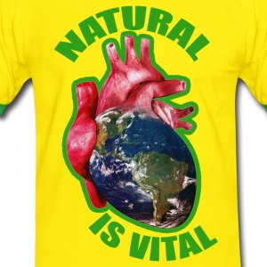 natural is vital Tee shirts - T-shirt contraste Homme