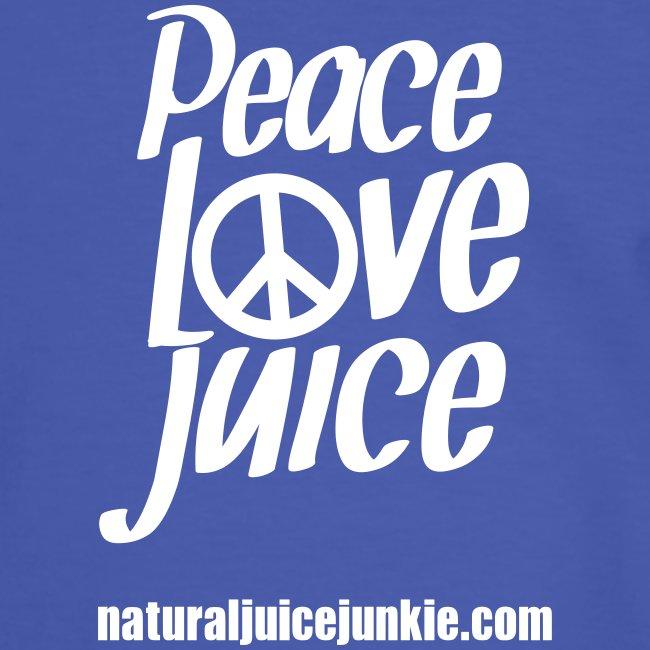 Peace Love Juice (white) - Men's Tee