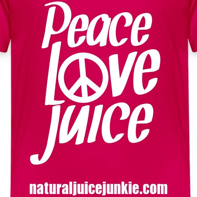 Peace Love Juice (white) - Kid's Tee
