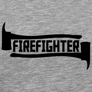 Firefighter Axt Logo T-Shirts - Men's Premium T-Shirt